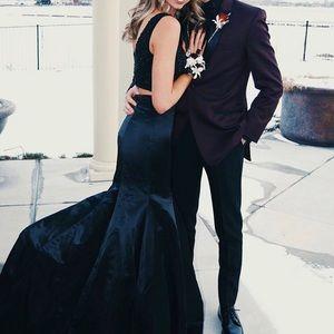 Two piece black dress